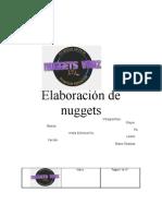 Elaboración de nuggets