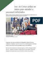 Cusco piden un hospital entero para atender a pacientes infectados