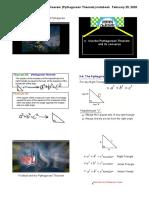 9.4 Pythagorean Theorem