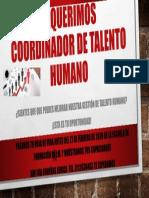 aviso coordinador de talento humano