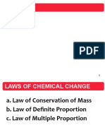 laws of chemical xhanges