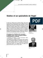 À propos du Staline de Domenico. Losurdo, le débat entre Jean-Jacques Marie et Domenico Losurdo, Cahiers du mouvement ouvrier, n° 82, pp. 84-98.
