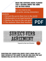 No.1 MADRERO Subject-Verb Agreement