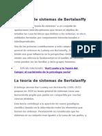 La teoría de sistemas de Bertalanffy