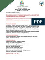 GUION LITURGICO Jueves 02-AGO-18