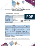 Activity Guide and Evaluation Rubric – Task 3 Write a storybook presenting five descriptions