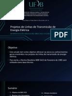 Projetos de Linhas de Transmissão de Energia Elétrica - NBR5422