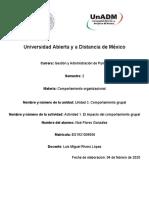 Actividad 1. El impacto del comportamiento grupal (Foro)