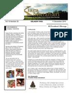 RCBKS Bulletin Vol 19 No 20