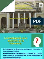 INVESTIGACION EN ENFERMERIA - IMPORTANCIA