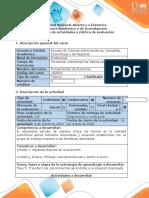 Guía de actividades y rúbrica de evaluación - Fase 5 - Transferir los conocimientos aprendidos a la situación planteada