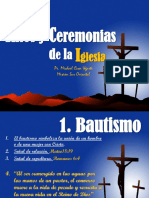 Ritos y Ceremonias de la Iglesia.
