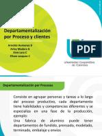 Departamentalizacion por procesos y clientes