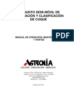 Manual Equipo de Clasificacion y Trituracion Planta GMC