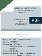 Employee motivation for ponmurugan