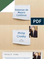 Gurús de la calidad Philip Crosby & Armand V Feigenbaum