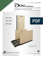 APFL-EasyRide-Lift-Owners-Manual