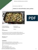 Receta de pasta con coles de Bruselas, queso y patatas