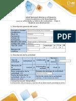 Guía de Actividades y Rúbrica de Evaluación - Paso 2 - Realizar Una Observación