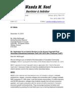 INTERIM TARIFF ACCC Response ToAccesss Copyright Application for Interim Tariff 10 Dec 2010