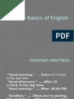 The Basics of English