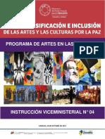 INSTRUCCION VICEMINISTERIAL N°4 SOBRE EL PROGRAMA DE ARTES EN LAS ESCUELAS.pdf