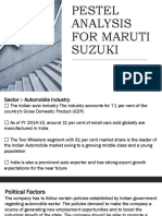 PESTEL ANALYSIS FOR MARUTI SUZUKI