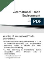International Trade Environment