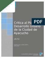 CRITICA AL PDU AYACUCHO