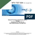 NFV-TST 004v1.1.2 - GR - NFVI_PATH_TEST report
