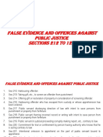 False Evidence AND Offences Against Public Justice - Second Lacture