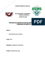 Certificacion de aeronaves mexicanas