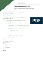 Programs for printing pyramid patterns in C++ - GeeksforGeeks