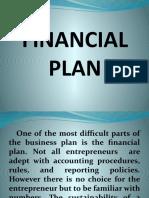 entrep week 12 Financial Plan