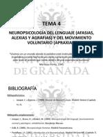 Neuropsicología del lenguaje (Afasias, alexias y agrafias) y del movimiento voluntario (Apraxias)