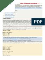 Using Functions in ActionScript 3