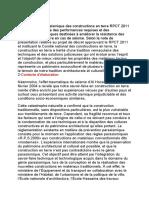 Le Règlement Parasismique Des Constructions en Terre RPCT 2011 Constitue l (1)