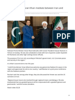 dw.com-Can Pakistans Imran Khan mediate between Iran and Saudi Arabia