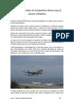 Histórico de todas as Companhias Aéreas que já vieram á Madeira