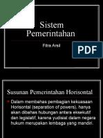 4. Sistem Pemerintahan Asas HTN FitraArsil