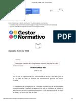 Decreto 540 de 1998 - EVA - Función Pública