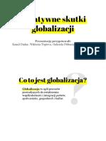 Negatywne skutki globalizacji