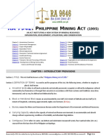 RA 7942 - PH Mining Act (1995)