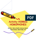 Activity Homophones