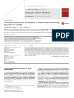 Self-directed professional development to improve effective teaching_Key points for a model