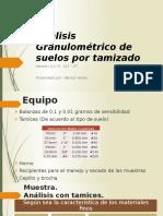 Análisis Granulométrico de suelos por tamizado