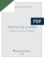 APOSTILA DE ALUSOES @eduardaeamedicina