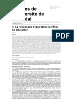 L'éducation pour tous - 4. La nécessaire implication de l'État en éducation - Presses de l'Université de Montréal