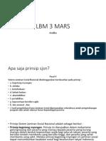 LBM 3 MARS
