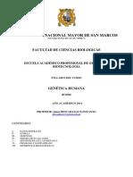 Syllabus Genética Humana 2014-2
